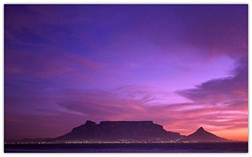 table-mountain-cape-town-south-africa-night-mountain-sea travel sites Postcard Post - Africa Site South