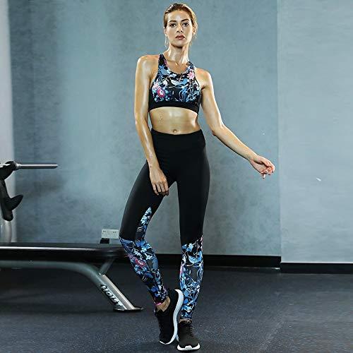 Amazon.com: Gym Jumpsuit Pantalon Sport Femmeyoga Sets Women ...