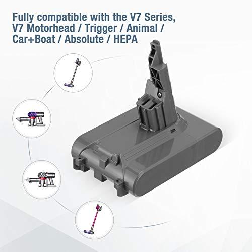 Powerextra Batteria di Ricambio per V7 21.6 V Aspirapolvere Wireless Motorhead V7 senza Fili per animali V7 Motorhead Pro V7 Trigger V7 Animal V7 con 2 Filtri e 1 Spazzola
