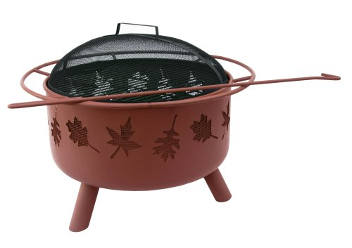 Landmann USA 28673 Big Sky Firepit and Grill, Tree Leaves - Big Leaf Trees