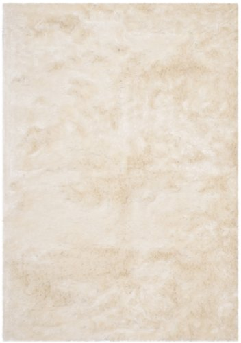 Safavieh Paris Shag Collection SG511-1212 Ivory Polyester Area Rug (6' x 9') Safavieh Shag Collection