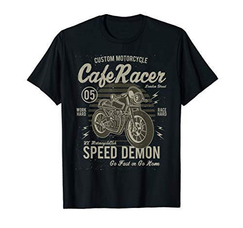 Cafe Racer Shirt Speed Demon Classic Motorcycle Vintage