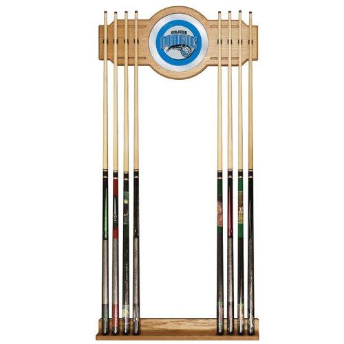 NBA Orlando Magic Billiard Cue Rack with Mirror by Trademark Gameroom