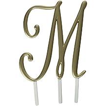 Lillian Rose Monogram Cake Topper Letter M Gold