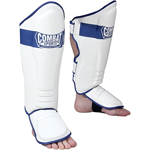 Combat Sports MMA Kickboxing Shin Guards (Large)