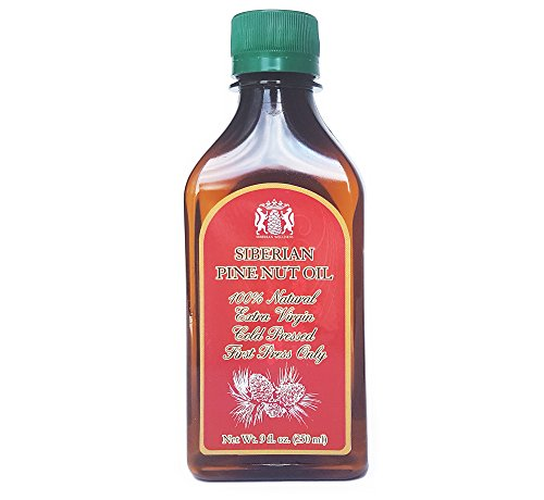 IT CAME BACK! Just arrived, best price, NATURAL Pine Nut Oil in unbreakable medicinal-grade plastic bottle. 9 Fl. Oz. Equals to 500 Sgels by 500mg. Extra Virgin, Cold-pressed from Organic Pine Nuts.