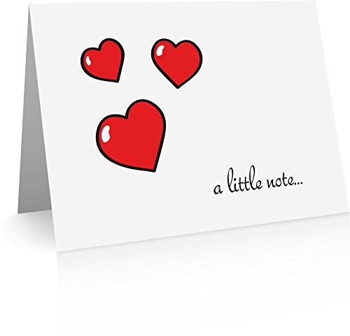 Love Envelope - Hearts and Love Note Cards (12 Cards and Blank Red Envelopes) Love Notes