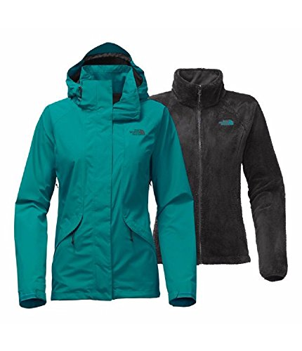 The North Face Women's Boundary Triclimate Jacket Harbor Blue (Large) (Boundary Fleece)