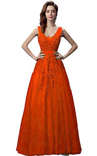 Vimans -  Vestito  - linea ad a - Donna arancione 46