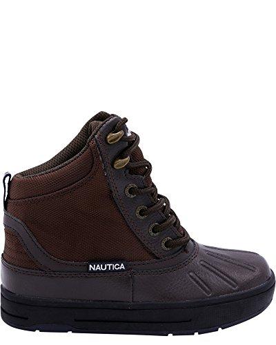 Nautica New Bedford Snow Boot (Little Kid/Big Kid),Brown,5 M US Big Kid (Brown Kids Apparel Big)