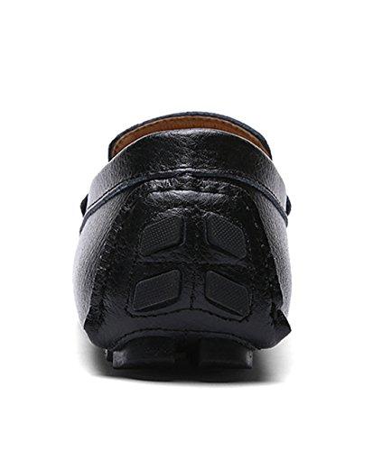 TDA ,  Herren Durchgängies Plateau Sandalen mit Keilabsatz , schwarz - schwarz - Größe: 43 EU