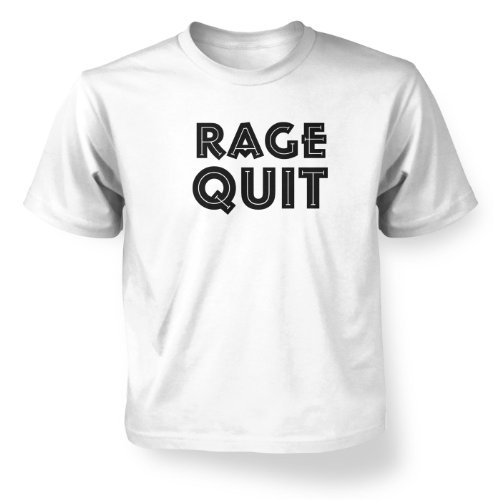 Price comparison product image Rage Quit Kids T-shirt - White L (9-11)