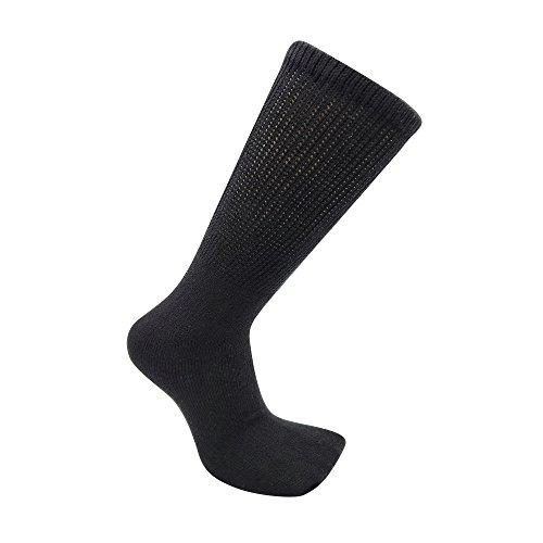 USBingoshop-12-Pairs-Mens-Physicians-Approved-Crew-Diabetic-Socks-Cotton-10-13-12-Pairs-D-Black