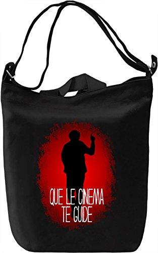 Que Le Cinema Te Guide Borsa Giornaliera Canvas Canvas Day Bag| 100% Premium Cotton Canvas| DTG Printing|