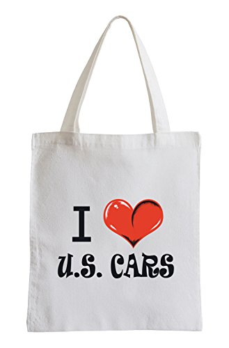 I love U.S. Cars Fun Jutebeutel