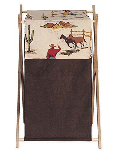 Sweet Jojo Designs Baby and Kids Wild West Cowboy Western Horse Clothes Laundry Hamper