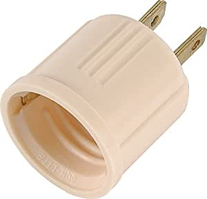 GE 54173 Socket Adapter Converts Outlet to Lamp Socket, Polarized Ivory