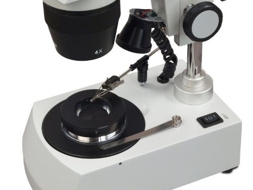 OMAX 20X-40X-80X LED Binocular Darkfield Stereo Microscope with Dual LED Lights for Gem and Jewelry by OMAX