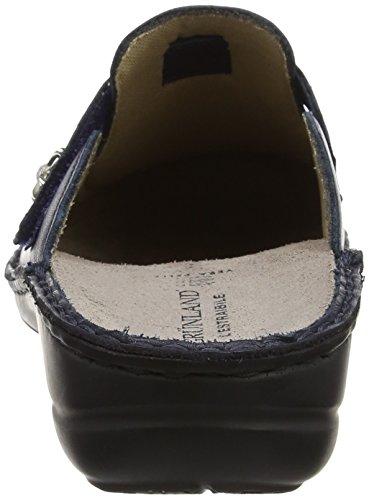 Donna Ce0207 Sulla Grünland Caviglia Pantofole Aperte Blu wU8FqXz