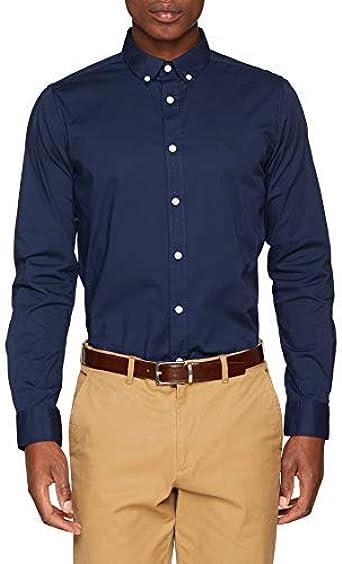 Springfield Frq Strech Sport Camisa Casual, Azul (Gama Azules ...