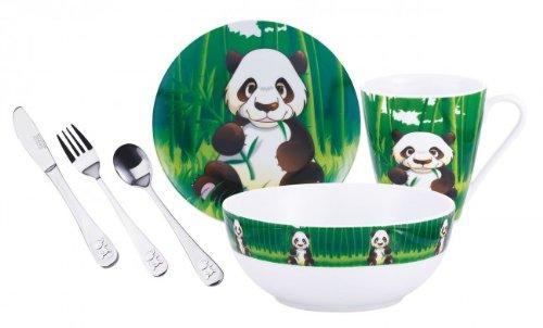 Porcelana vajilla para niños y cubertería-Set Edestahl - 6 teilig ...