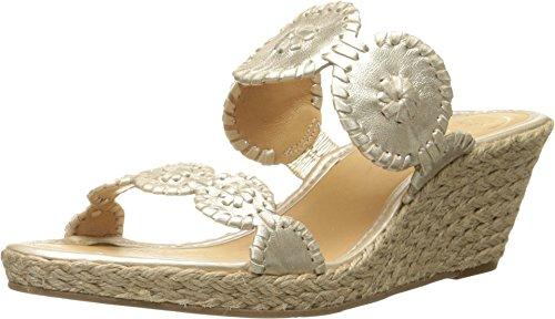(Jack Rogers Women's Shelby Wedge Sandal Platinum 9 M US)