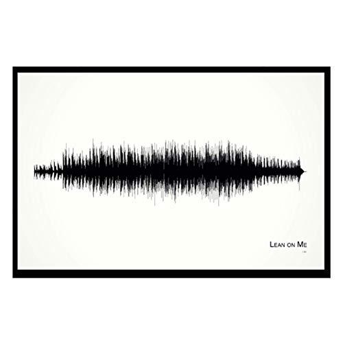 Lean on Me - 11x17 Framed Soundwave print