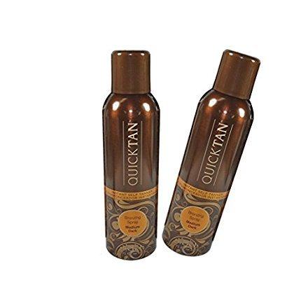 Instant Self Tan Spray (Body Drench Quicktan Quick Tan Bronzing Spray Medium Dark (The Perfect Ultra Bronzing Self-tanner a Fast-drying Formula) - Size 6 Oz / 170g (Pack of 2))