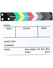 Neewer Acrylic Plastic 10x8/25x20cm Dry Erase Director's Film Clapboard Cut Action Scene Clapper Board Slate with Color Sticks