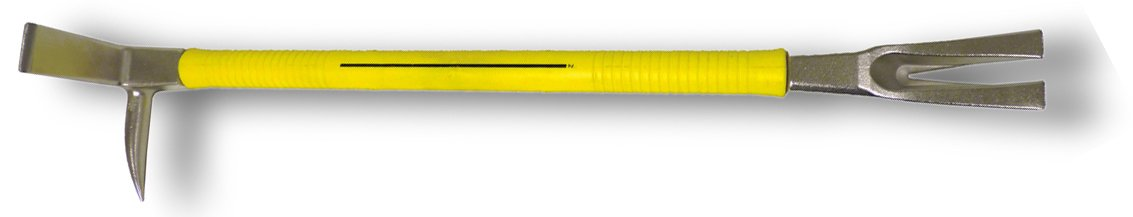 Nupla 33801 Yellow Nuplaglas Handle Steel Claw and Pry Halligan Tool, 36'' Length