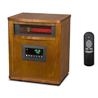 Lifesmart 6 Element 1800 Sq. FT. Portable Infrared Quartz Electric Space Heater
