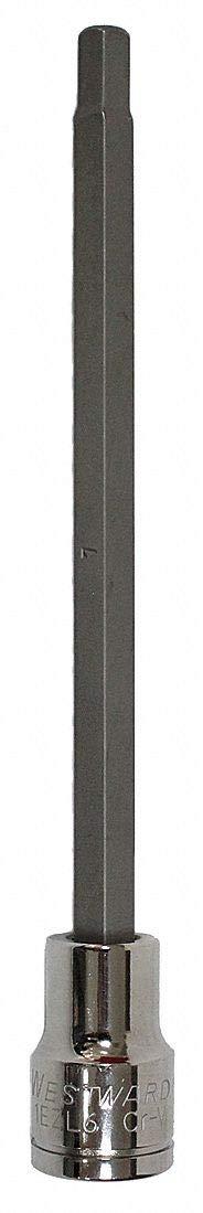 7mm 3//8 In Dr 5 7//8 In L Westward 1EZL6 Hex Bit Socket