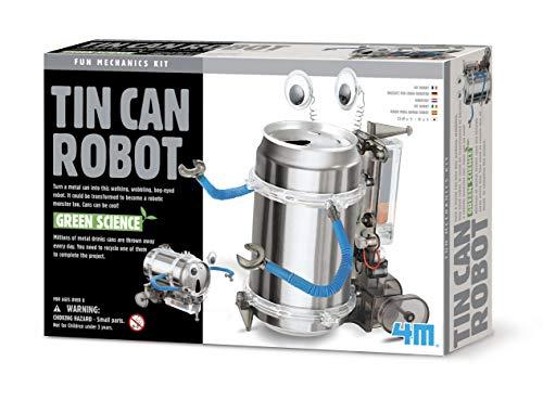 4M 4153 Kidz Labs Tin Can Robot (Green Science Tin Can Robot)