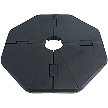 Le Papillon Patented Sand-Filled Plastic Base Weight for Cantilever Offset Umbrella, Pack of 4