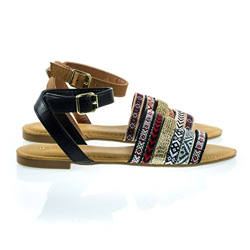 multi colored sandals - 9