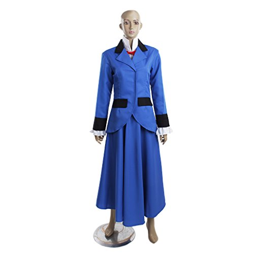 CosplayDiy Women's Blue Dress for Mary Poppins Cosplay CM