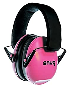 Snug Kids Earmuffs / Best Hearing Protectors – Adjustable Headband Ear Defenders For Children and Adults (Pink)