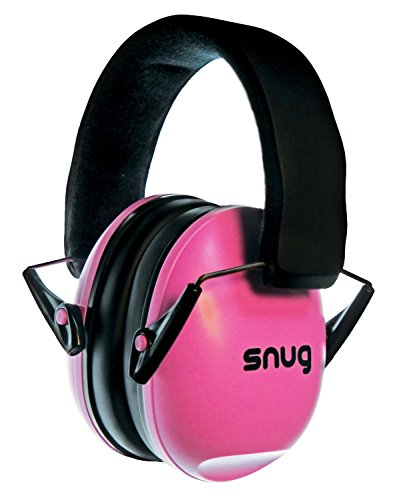 Snug Safe n Sound Kids Earmuffs / Hearing Protectors - Adjustable Headband Ear Defenders For Children and Adults (Pink)