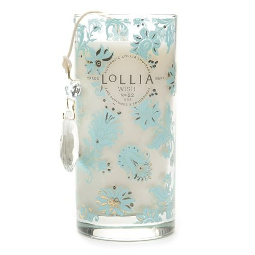 Lollia Wish Petite Perfumed Luminary Candle-10.25 oz. by Lollia