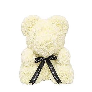 25cm Soap Foam Bear of Roses Teddy Bear Rose Flower Artificial for Valentine's Day Lovers Birthday Christmas Wedding Gift 107