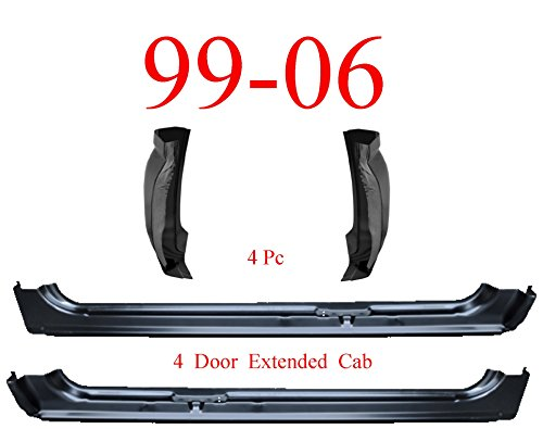 - 99-06 4Pc X-Cab X-Rocker & Extended Cab Corners