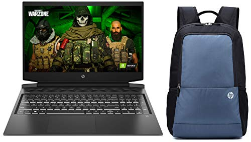 HP Pavilion Gaming 10th Gen Intel Core i5 Processor 16.1-inch FHD Gaming Laptop (8GB/1TB HDD + 256GB SSD/Windows 10/MS Office/NVIDIA GTX 1650 4GB/Shadow Black), 16-a0022TX and Bag Combo