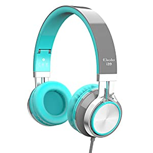 Elecder i39 Headphones with Microphone Foldable Lightweight Adjustable On Ear Headsets with 3.5mm Jack for iPad…