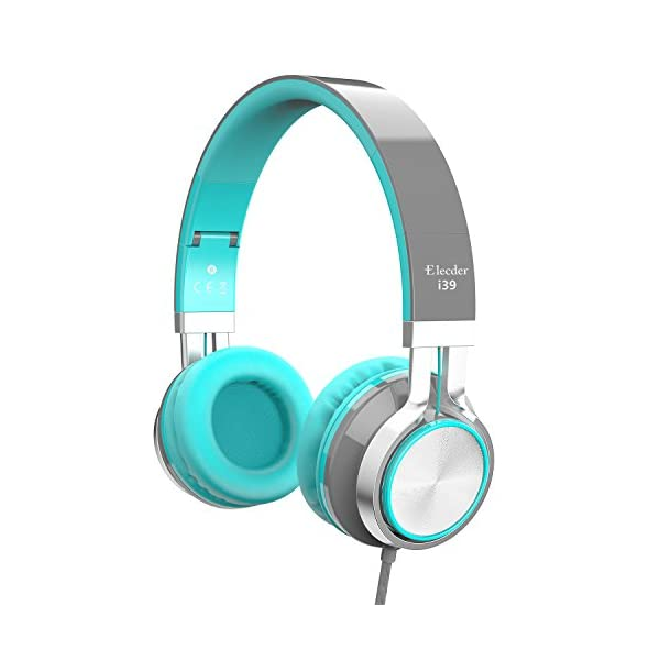 Elecder i39 Headphones with Microphone Foldable Lightweight Adjustable On Ear Headsets...