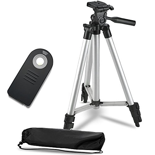 """50"""" Inch Lightweight Aluminum Camera Tripod Stand+ Remote Shutter Release for Nikon (4 Piece Set) from Deals Number One"""