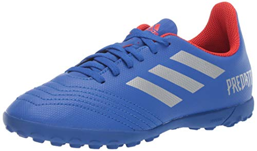 adidas Unisex Predator 19.4 Turf, Bold Blue/Silver Metallic/Active red 3.5 M US Big Kid ()