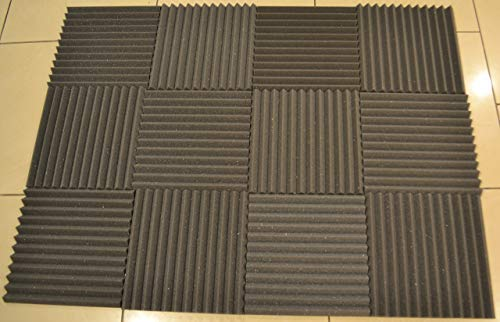 FOAMENGINEERING 48-Pack Acoustic Panels Studio Soundproofing Foam Wedge tiles 1''x12''x12'' 100% Made in USA- Great for music sound and noise reduction. by FoamEngineering (Image #7)