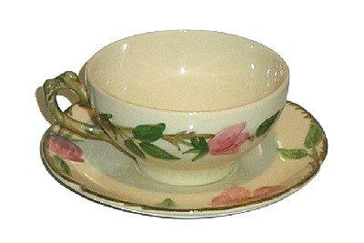 Franciscan Embossed DESERT ROSE Tea Cup & Saucer Set (USA)