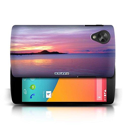 Etui pour LG Google Nexus 5/D821 / Bleu de la mer conception / Collection de Coucher du Soleil