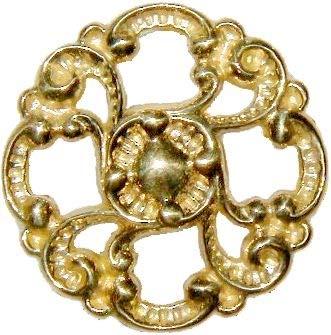 - Victorian Cast Brass Drawer Knob Pull Handle 1-3/8